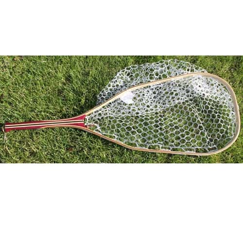 Fisknat nets spring ridge fly fishing net with rubber bag for Rubber fishing nets