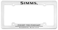 Simms License Plate Cover