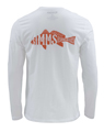 Simms Woodblock Redfish Long Sleeved T-shirt Closeout Sale
