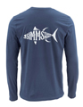 Simms Woodblock Tuna Long Sleeved T-Shirt Closeout Sale