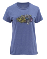 Simms Women's Artist Series Larko Brown Trout Short Sleeve T Closeout Sale