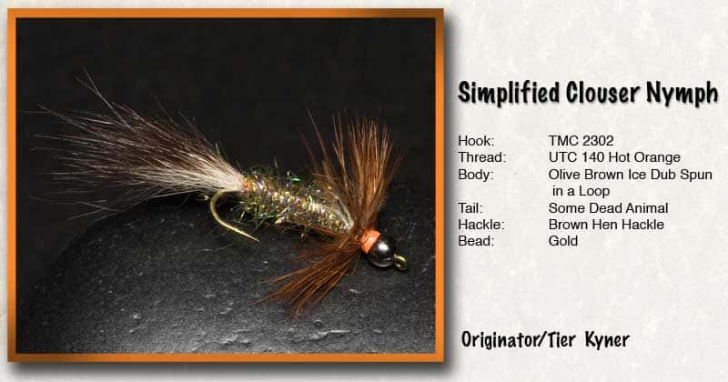 simplified clouser carp fly