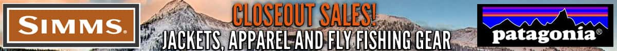 apparel, jacket, fly fishing gear closeout sale