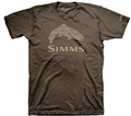 Simms Stacked Typo Logo T-Shirt - Trout
