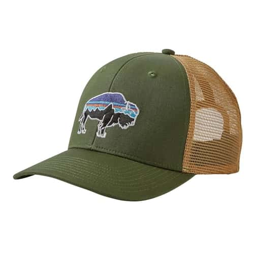 Patagonia fitz roy bison trucker hat for Patagonia fly fishing hat