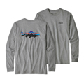 Patagonia Men's Long Sleeved Fitz Roy Trout Responsibili-Tee Closeout Sale Select Colors