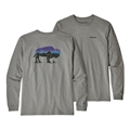 Patagonia Men's Long Sleeved Fitz Roy Bison Responsibili-Tee Closeout Sale Select Colors