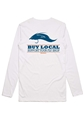 Simms Buy Local Salt Long Sleeved T-shirt Closeout Sale