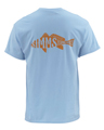Simms Woodblock Redfish Short Sleeved T-shirt Closeout Sale