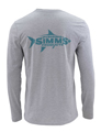 Simms Woodblock Tarpon Long Sleeved T-shirt Closeout Sale
