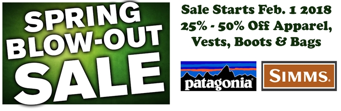 fly shop spring fly fishing sale