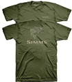 Simms Stacked Typo Logo T-Shirt - Bass Closeout Sale