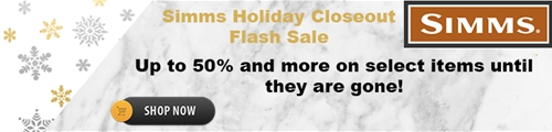 simms holiday flash closeout sale
