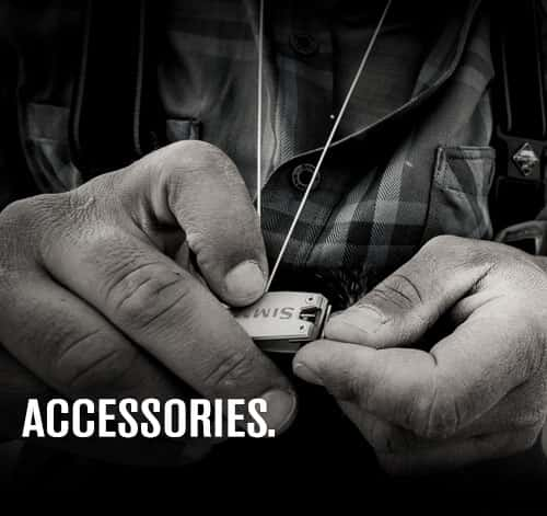 Simms accessories including nippers, pliers and lanyards
