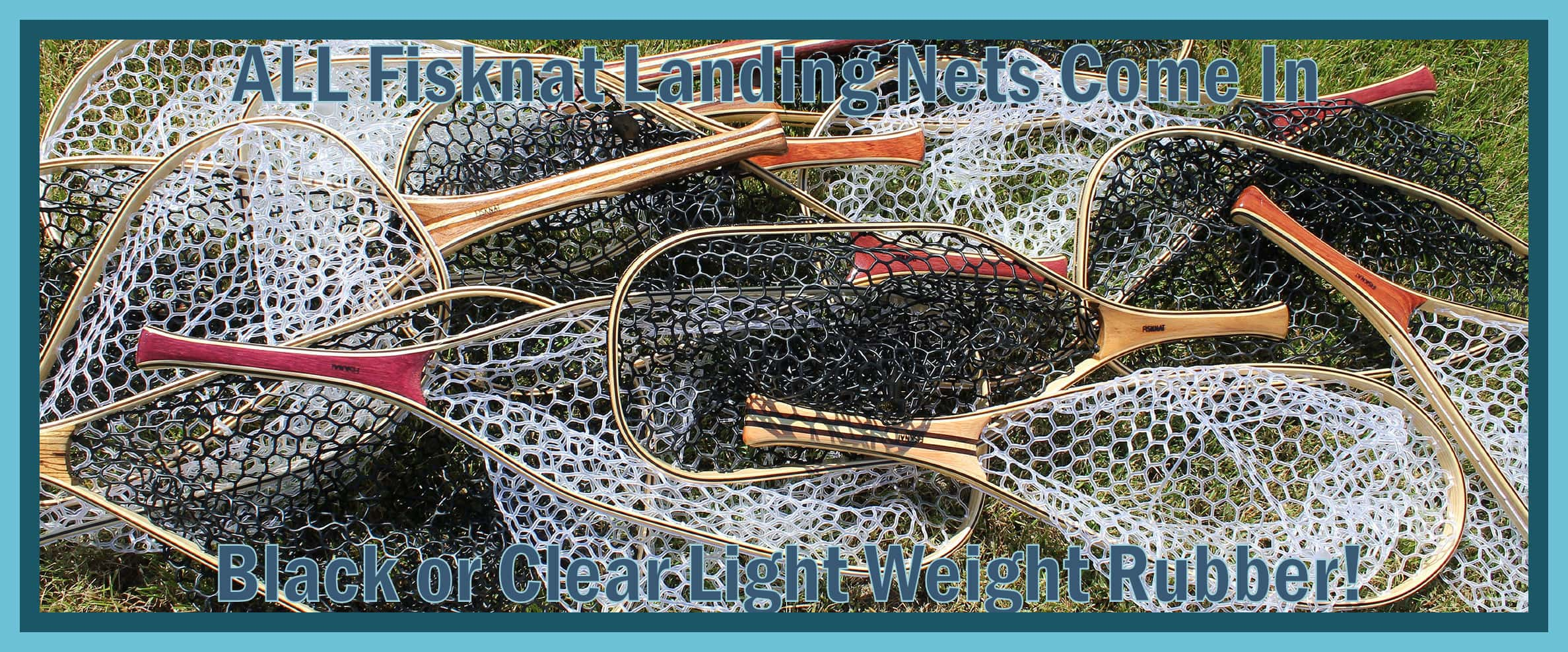 fisknat lightweight rubber fly fishing landing nets