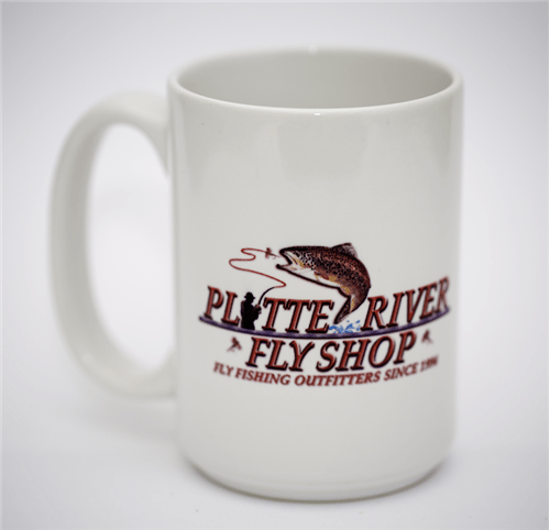 Simms Coffee Cup with Platte River Fly Shop Logo