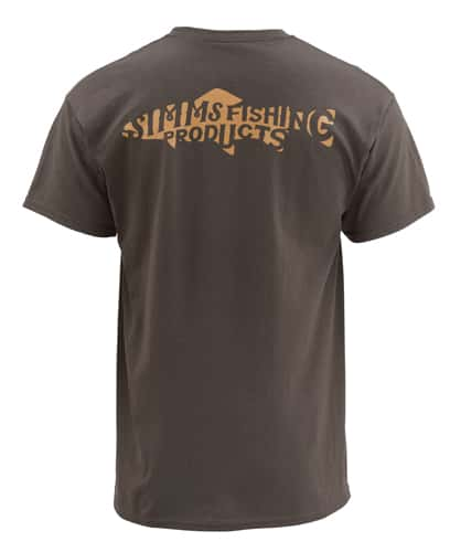Simms Woodblock Trout Short Sleeve Tee Closeout Sale