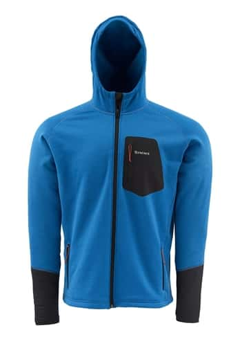 Simms Axis Hoody Tidal Blue Large Closeout Sale