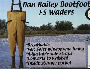 Dan Bailey Bootfoot FS Wader Closeout Sale