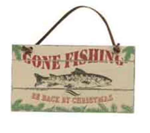 """Gone Fishing...Be Back by Christmas"" Ornament"