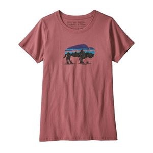 Patagonia Women's Fitz Roy Bison Organic Crew T-Shirt Sale On Select Colors