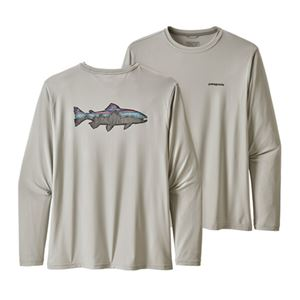 Patagonia Men's Long-Sleeved Capilene Cool Daily Fish Graphic Tee Sale On Select Colors