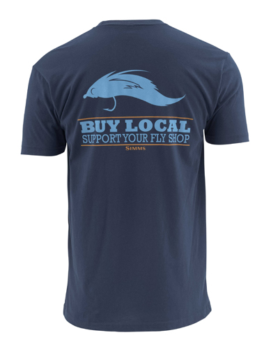 Simms Buy Local Salt Short Sleeve Tee