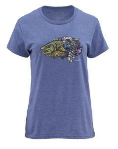 Simms Women's Artist Series Larko Brown Trout Short Sleeve T Bargain Sale