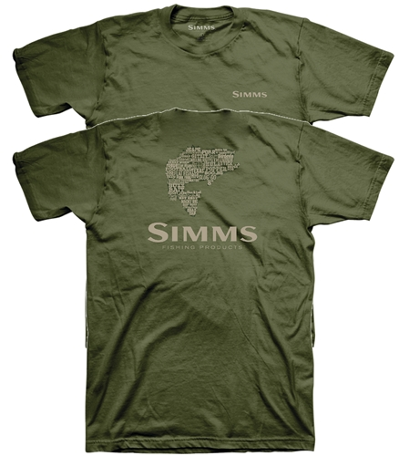 Simms Stacked Typo Logo T-Shirt - Bass