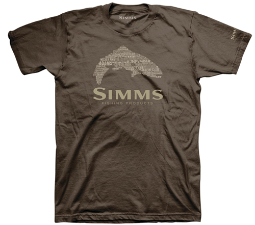 Simms Stacked Typo Logo T-Shirt - Trout Closeout Sale