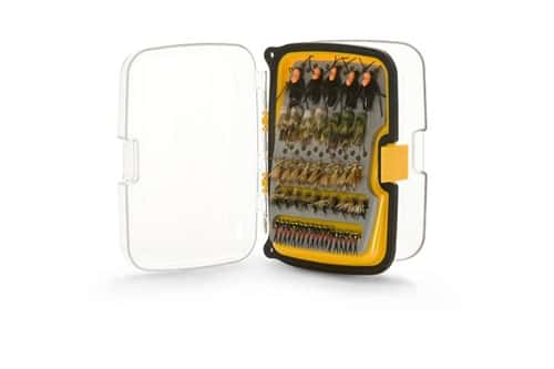 Scientific Anglers 164 Angled Fly Box - Waterproof Compact - Yellow