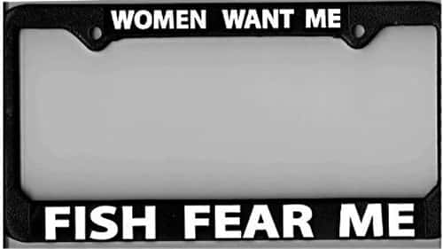 "License Plate Frame ""Women Want Me"""